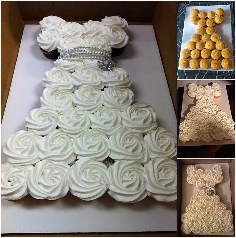 Πως  κάνουμε την Τούρτα Φόρεμα με cupcakes και την πιο εύκολη βουτυρόκρεμα με ζαχαρούχο!