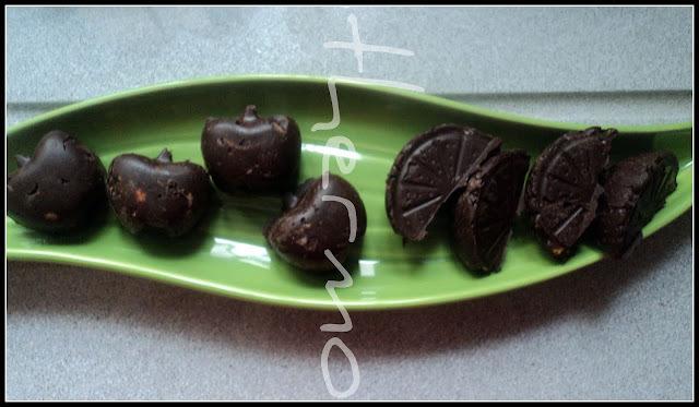 Bombones de pistachos sin azúcar para Navidad