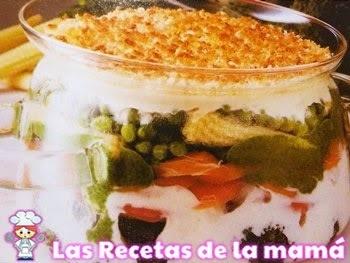 Receta de Pastel de verduras gratinadas