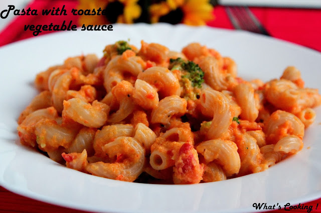 Pasta with roasted vegetable sauce