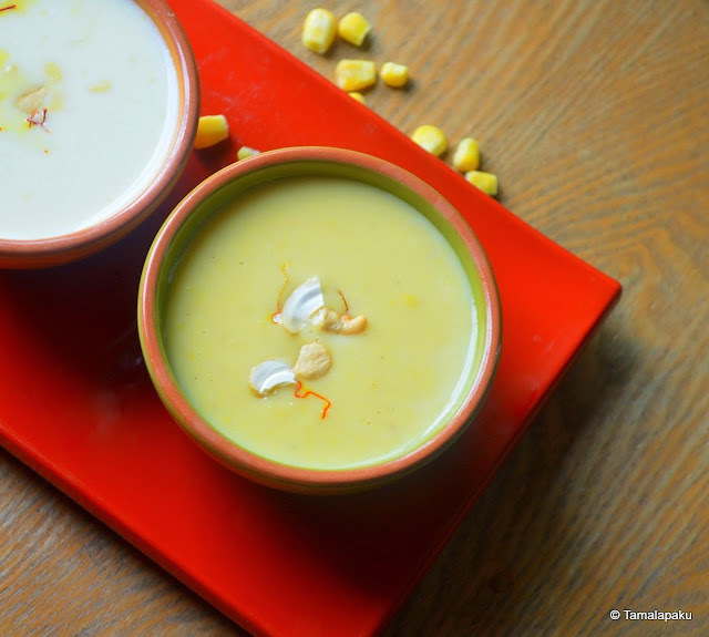 Sweet Corn Pudding ~ Sweet Corn Kheer