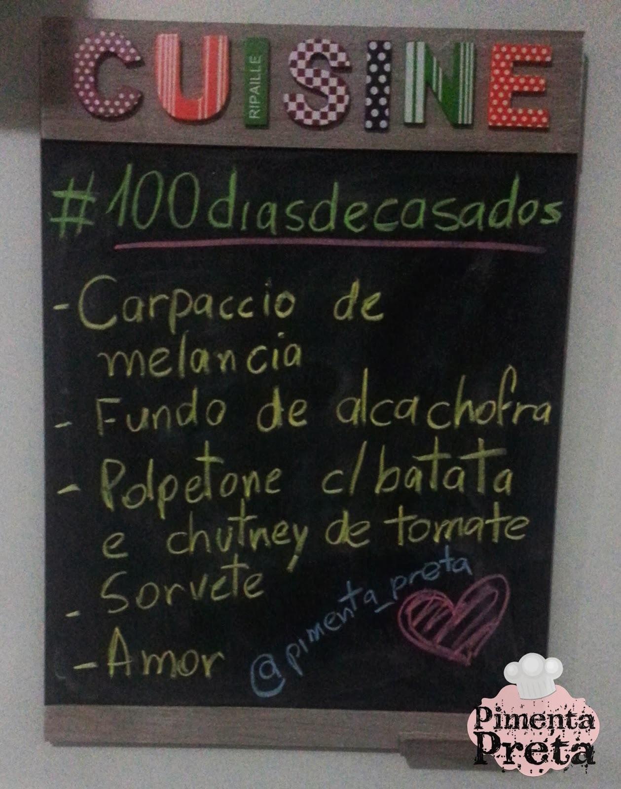100 dias de casados com cardápio especial - muitas receitas e 1 post
