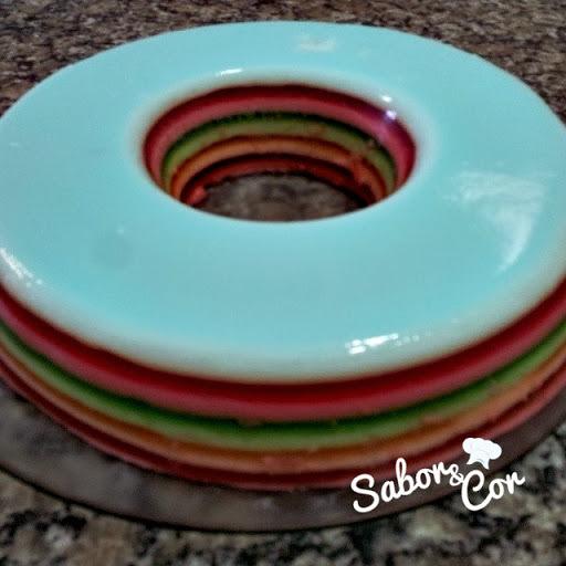 gelatina cremosa com duas camadas