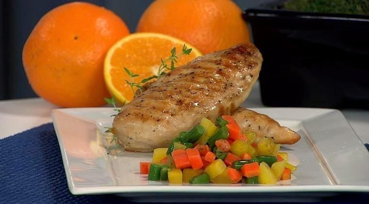 peito de frango com molho branco e alho poro