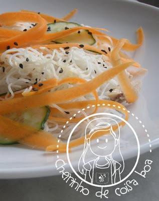 Salada de pepino com sardinha em lata