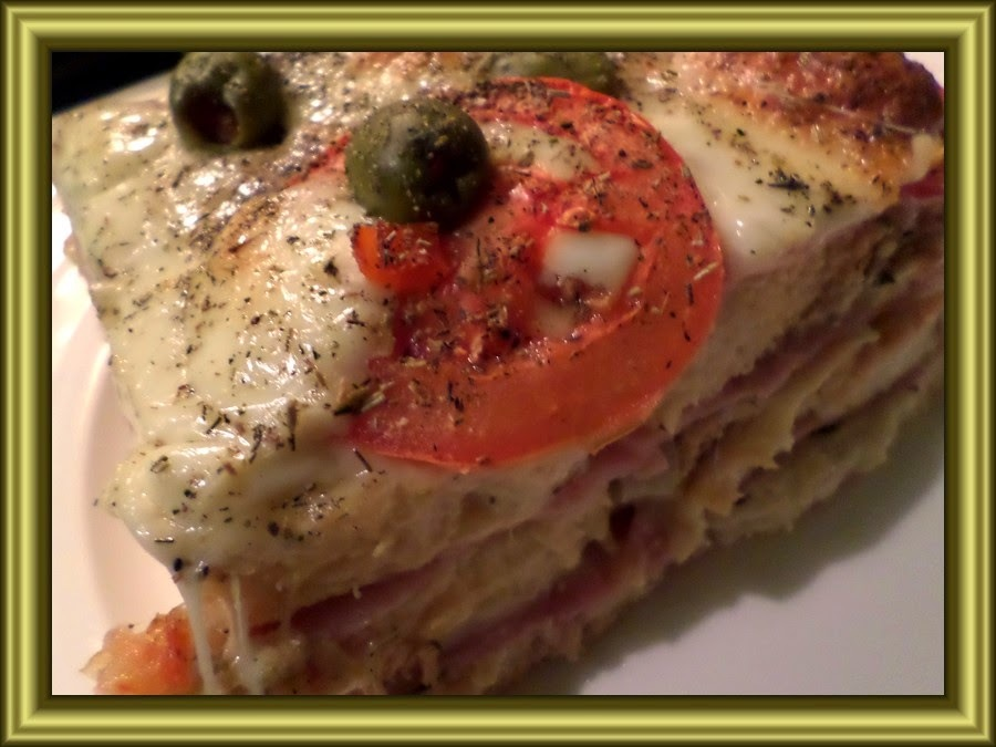 """Lasagne "" z toustového chleba"