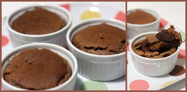 Bolinho de chocolate quente
