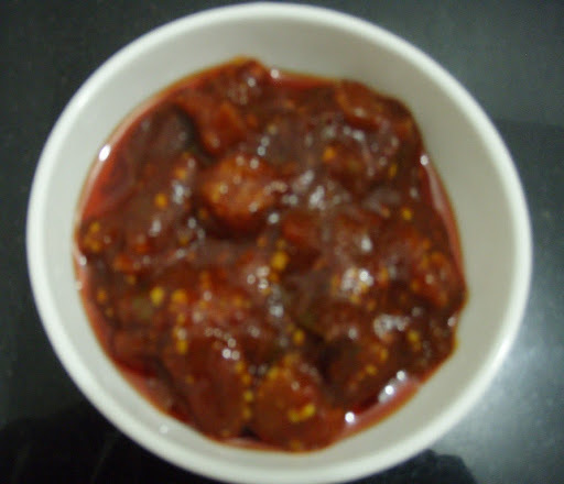Brinjal Pickle (aunt's recipe)