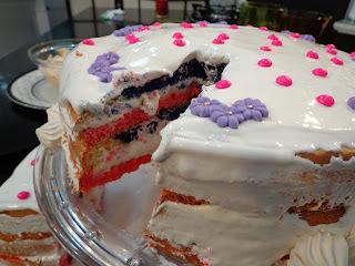 recheio de bolo cor de rosa