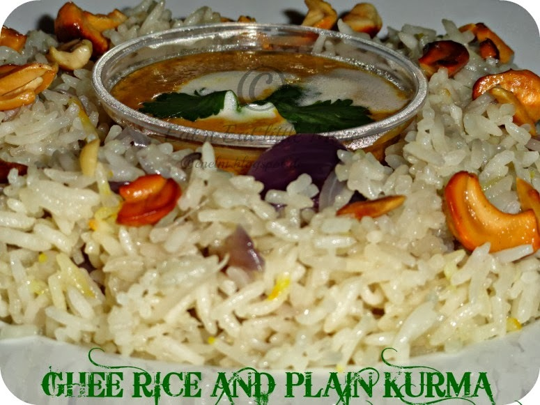 Ghee Rice and Plain Kurma