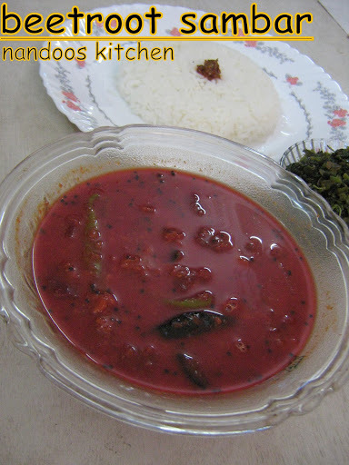 Beetroot sambar / beetroot with lentils