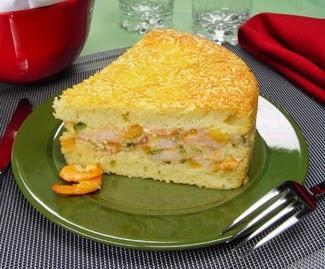 torta de camarão com catupiry