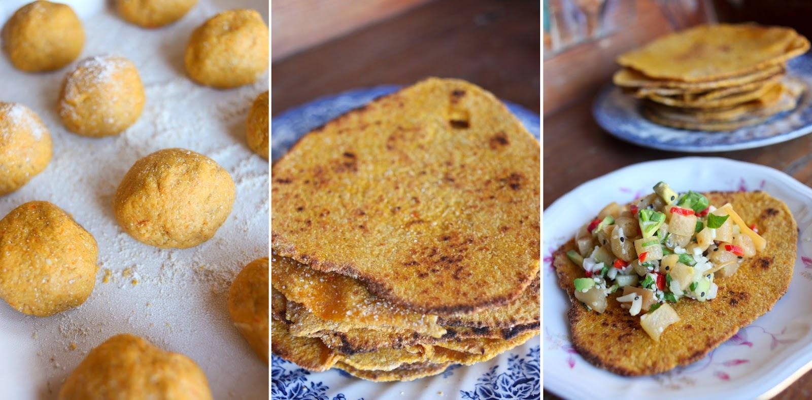 Chapati de Zanahoria {Ventanas Verdes}