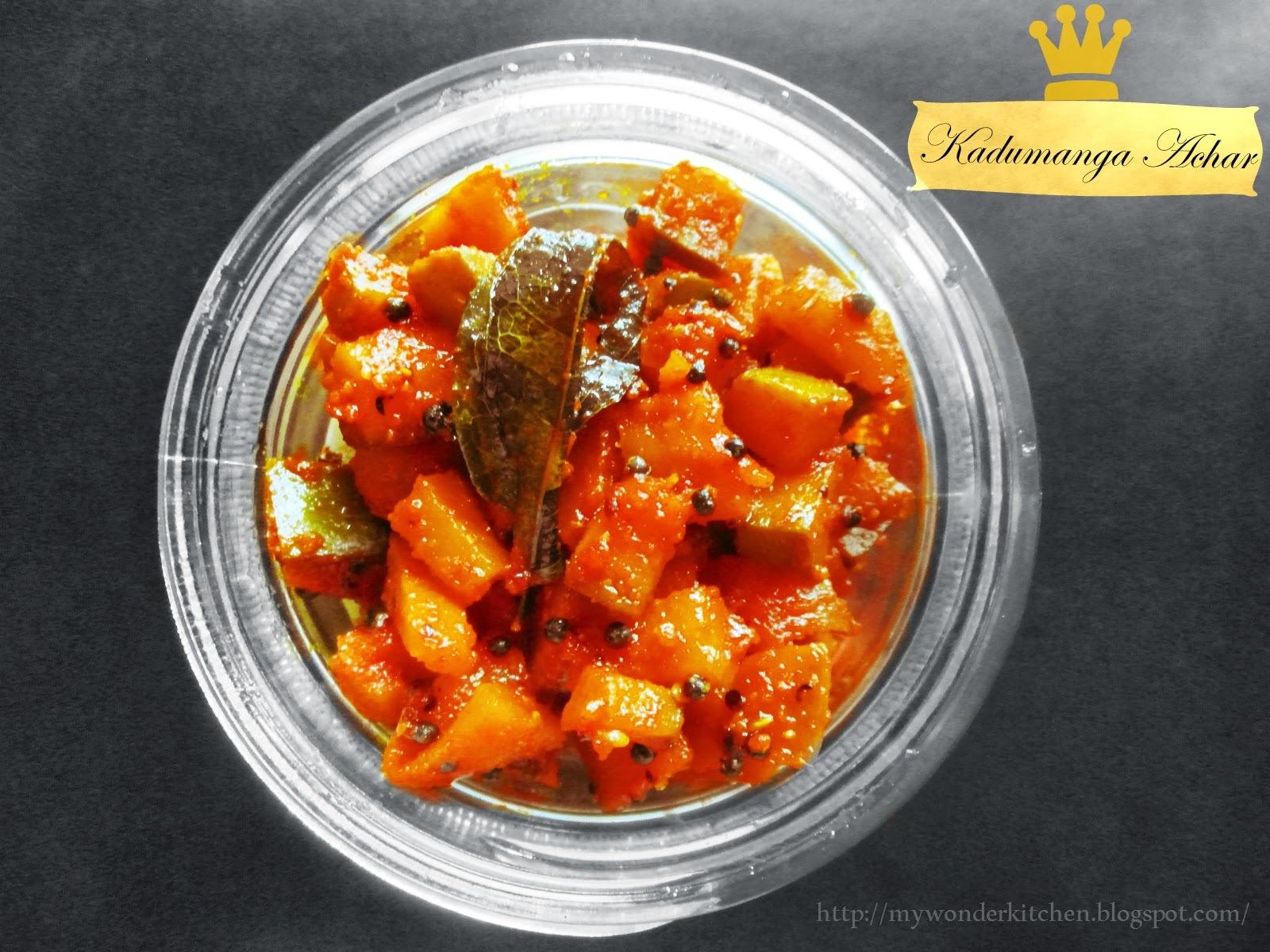 Amma's Kadumanga Achar|Kerala Mango pickle