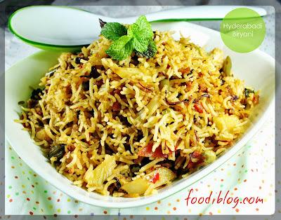 Hyderabadi Dum Veg Biryani recipe (वेज हैदराबादी बीरयानी)