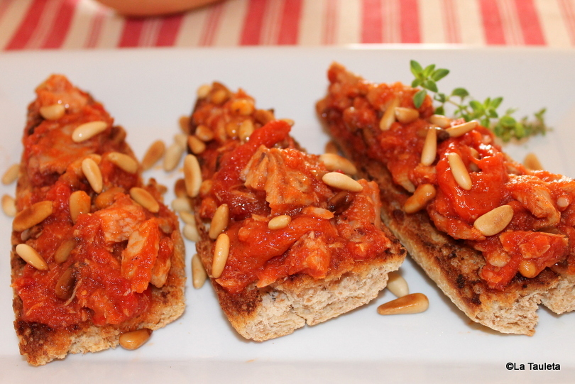 Pimiento, tomate y atún - Pimentó, tomaca i tonyina