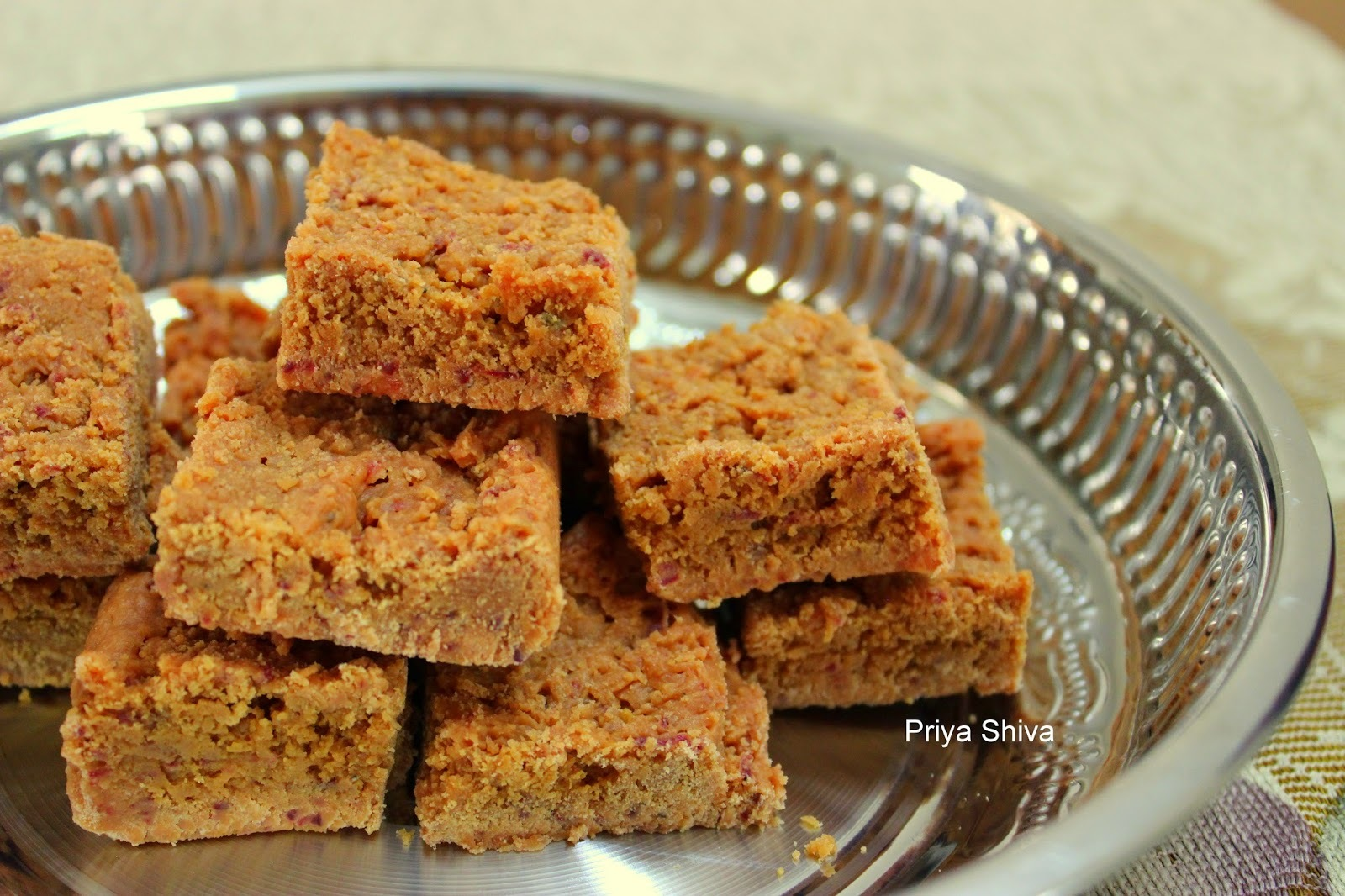 Beetroot Coconut Burfi