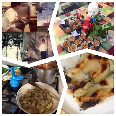 Sopa con leche de almendras_Orata al brandy _Gnocchi alal romana _Rigatoni con salsicce _Crèpes aux pruneaux_Carne asada _Petots chocolat