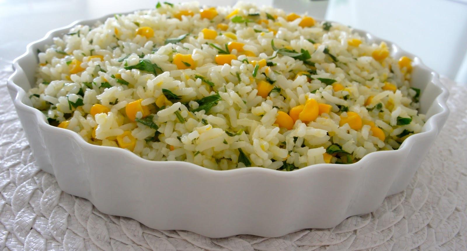 arroz com milho verde simples