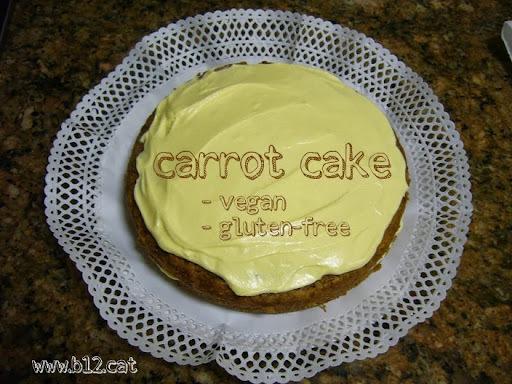 Carrot cake, vegà i sense gluten