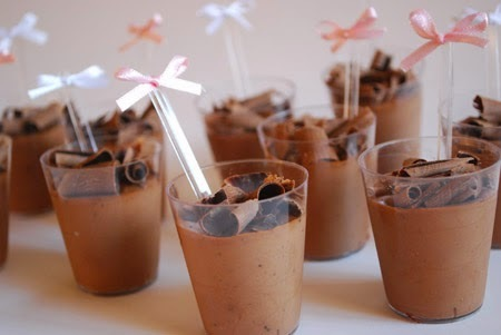 mousse de chocolate com agar agar