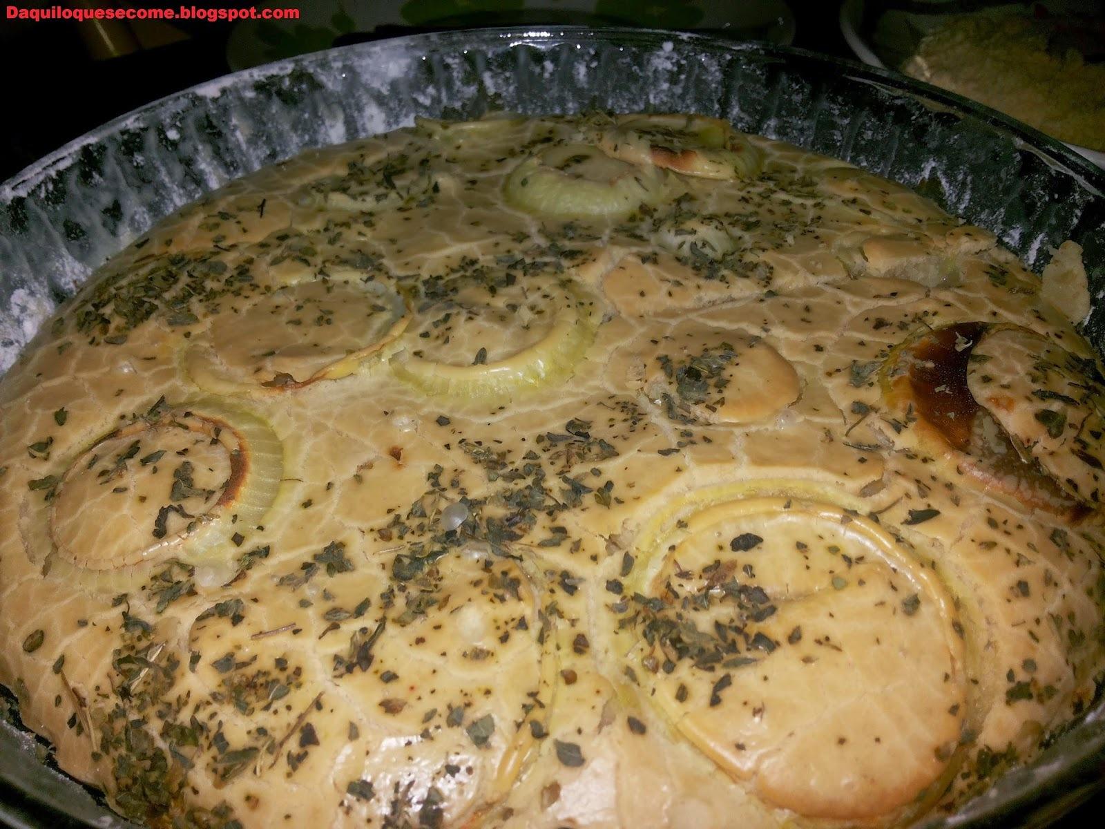 Torta de Atum sem glúten e sem lactose.