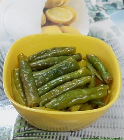 green chilli lemon pickle