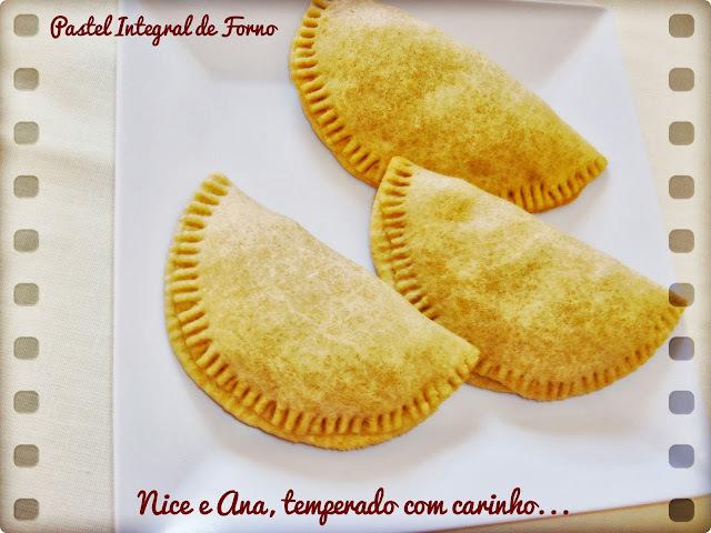 pasteis de forno com farinha integral e sem margarina