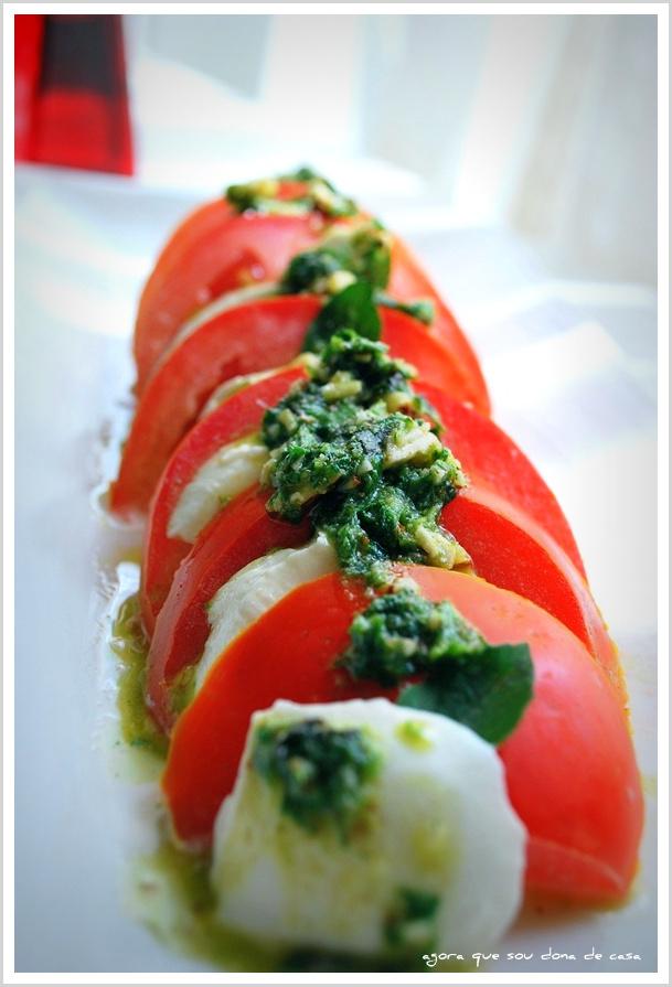 capricho de domingo: salada caprese