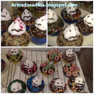 Meus cupcakes para o halloween...