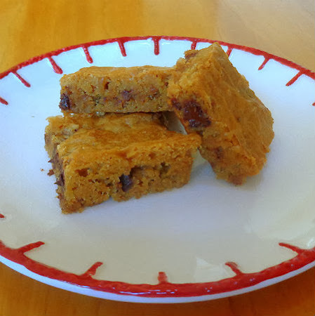 Butterscotch Brownies with Chocolate Chips
