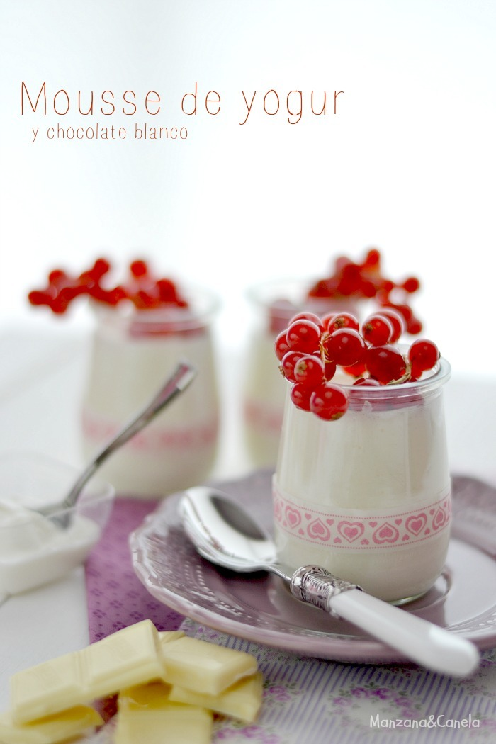Mousse de yogur y chocolate blanco