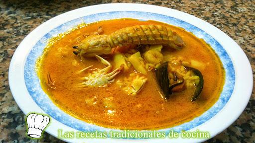 Receta de arroz caldoso de marisco