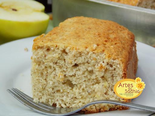 bolo de maçã com farinha de coco ( o melhor bolo do mundo )