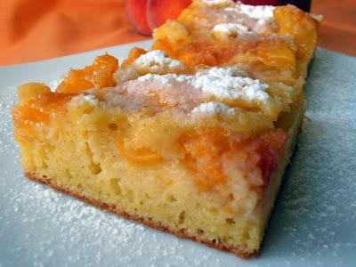 Grízes- (őszi)barackos süti