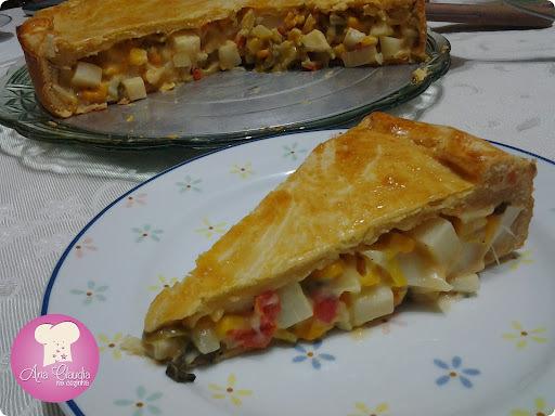 Torta de Palmito (massa com guaraná)