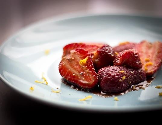 Citrus Balsamic Marinated Strawberries
