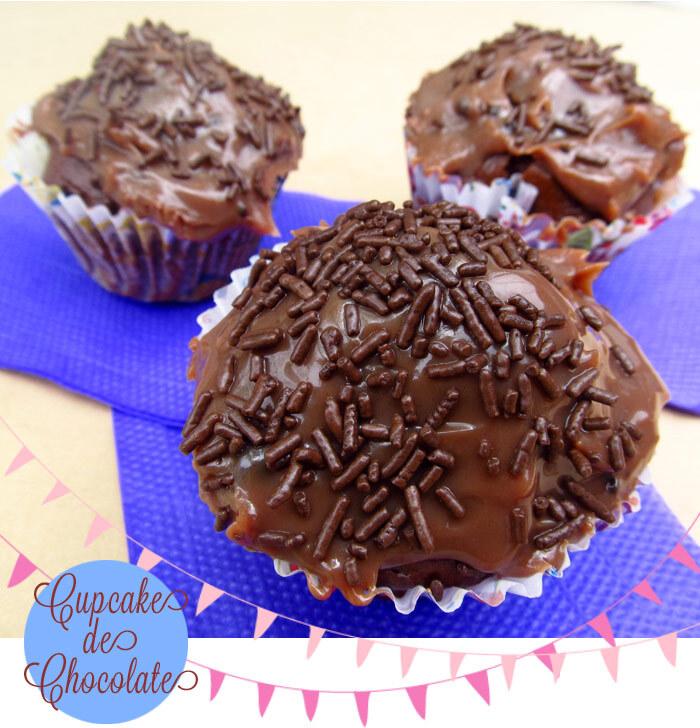 {cozinha para preguiçosas} Cupcake de chocolate sem ovo
