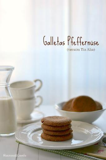 Galletas Pfeffernüsse de chocolate en la versión de Tía Alia