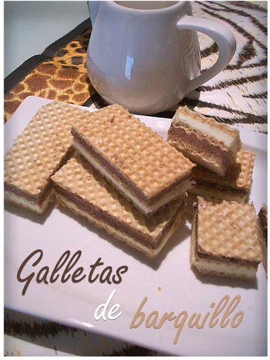 GALLETAS DE BARQUILLO