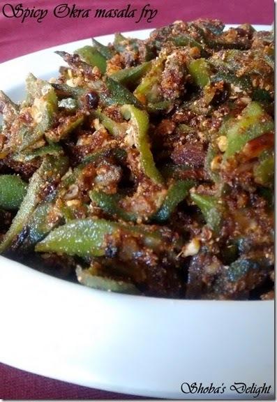 Spicy Okra Masala Fry