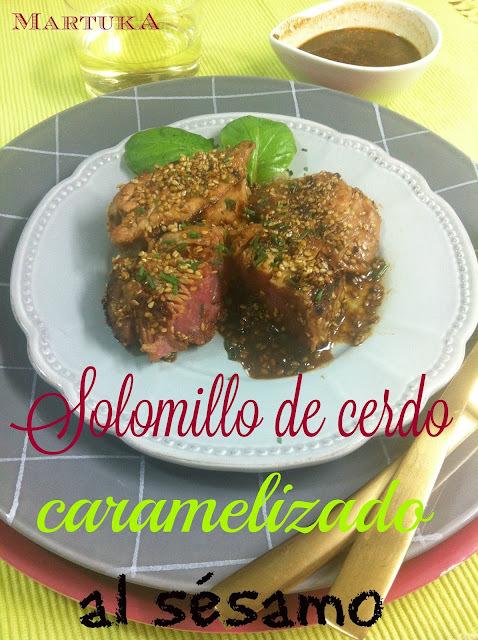 Solomillo De Cerdo Caramelizado Con Sésamo