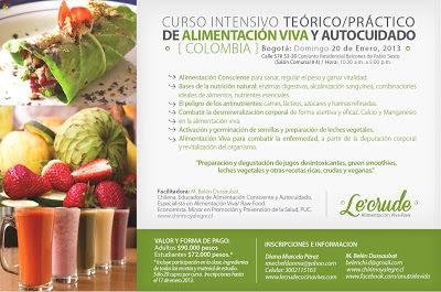 Curso de Alimentación Viva en Bogotá