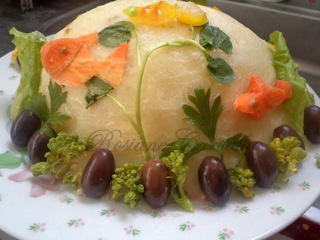 Torta de batata recheada Fundo do Mar