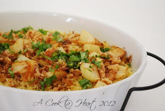 Daal Biryani- a quick weeknight meal