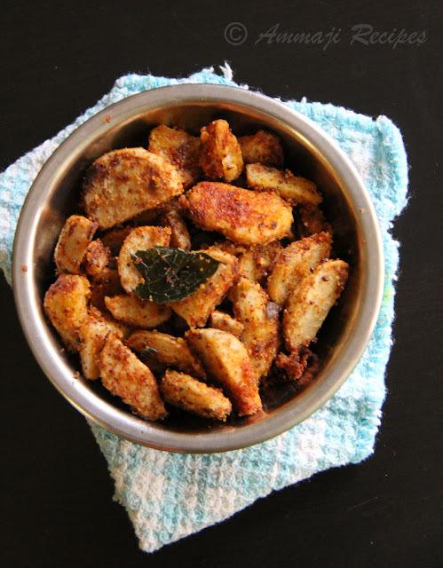 Chamadumpa Vepudu | Seppankizhangu Fry | Taro Root Fry | Arbi Sabji