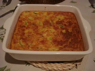 Torta/suflê de arroz com legumes e atum (sem glúten)