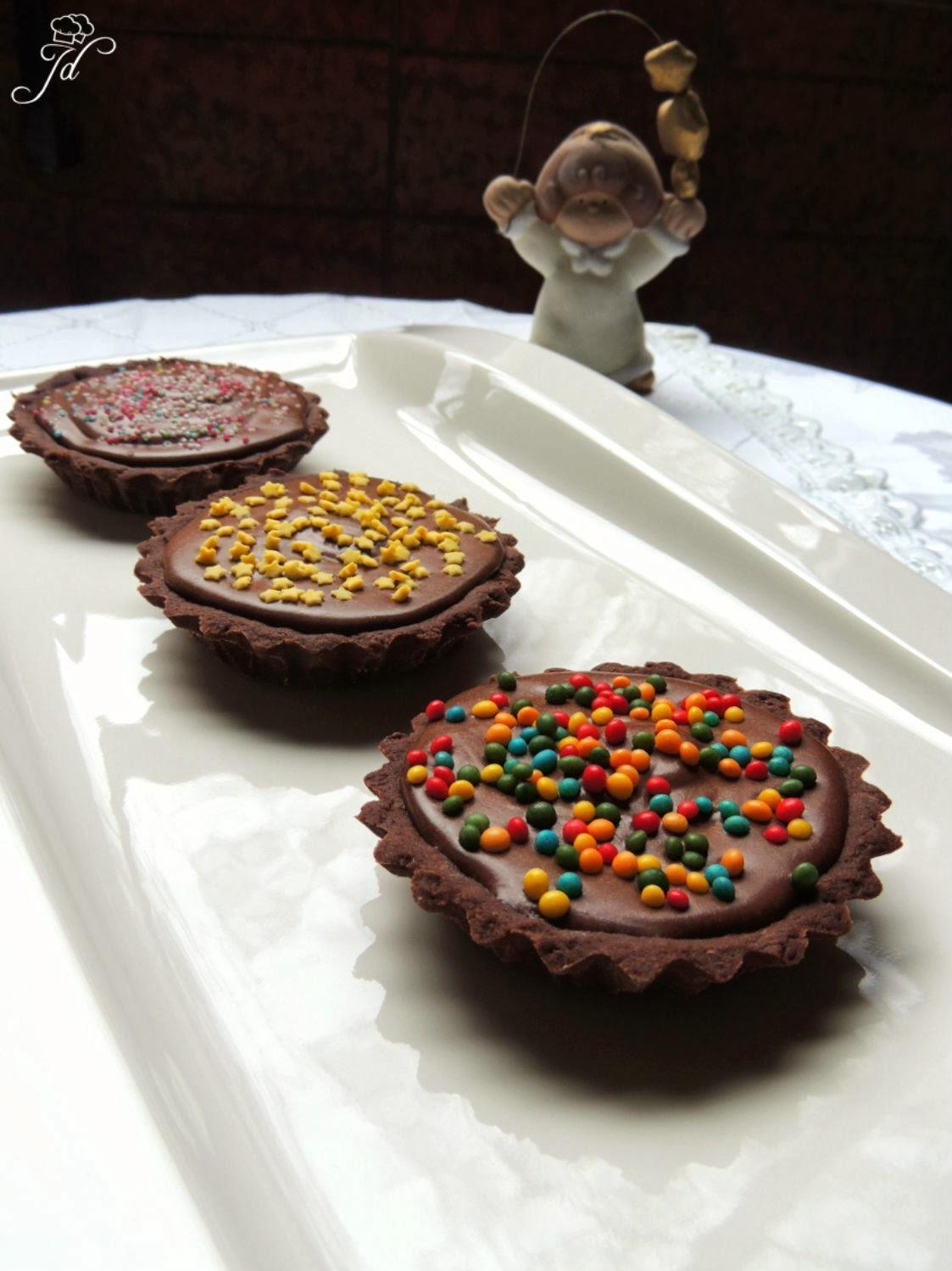 Chocolate truffle tartlets - Čokoladne truffle pitice