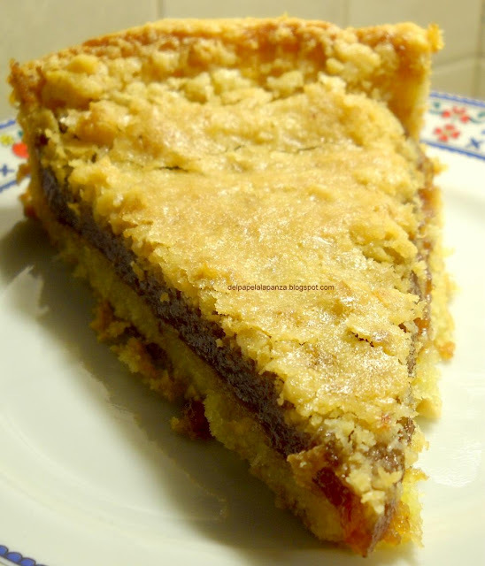 Tarta de membrillo crocante
