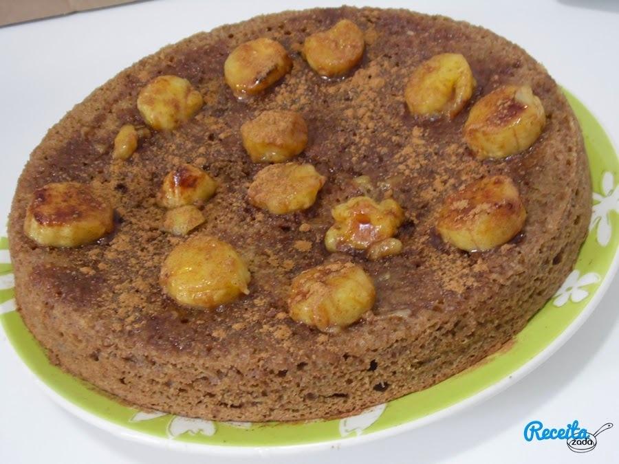 bolo de banana de liquidificador farinha de rosca com calda